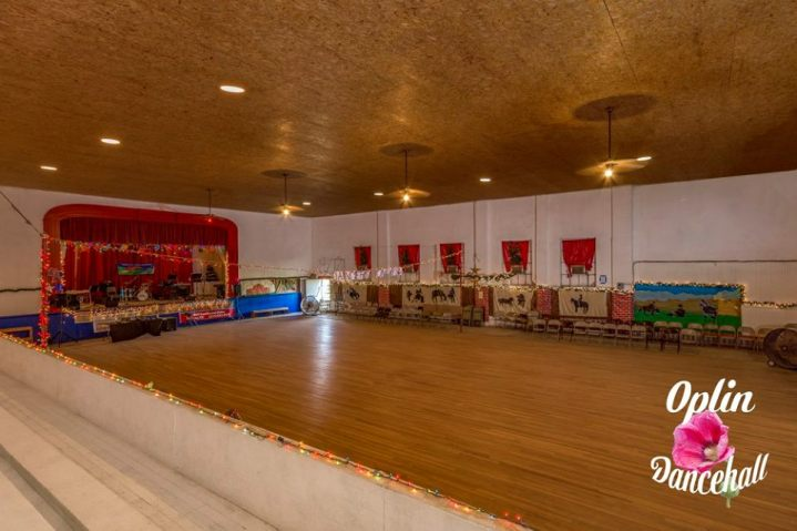 Inside photo of the historic dancehall.